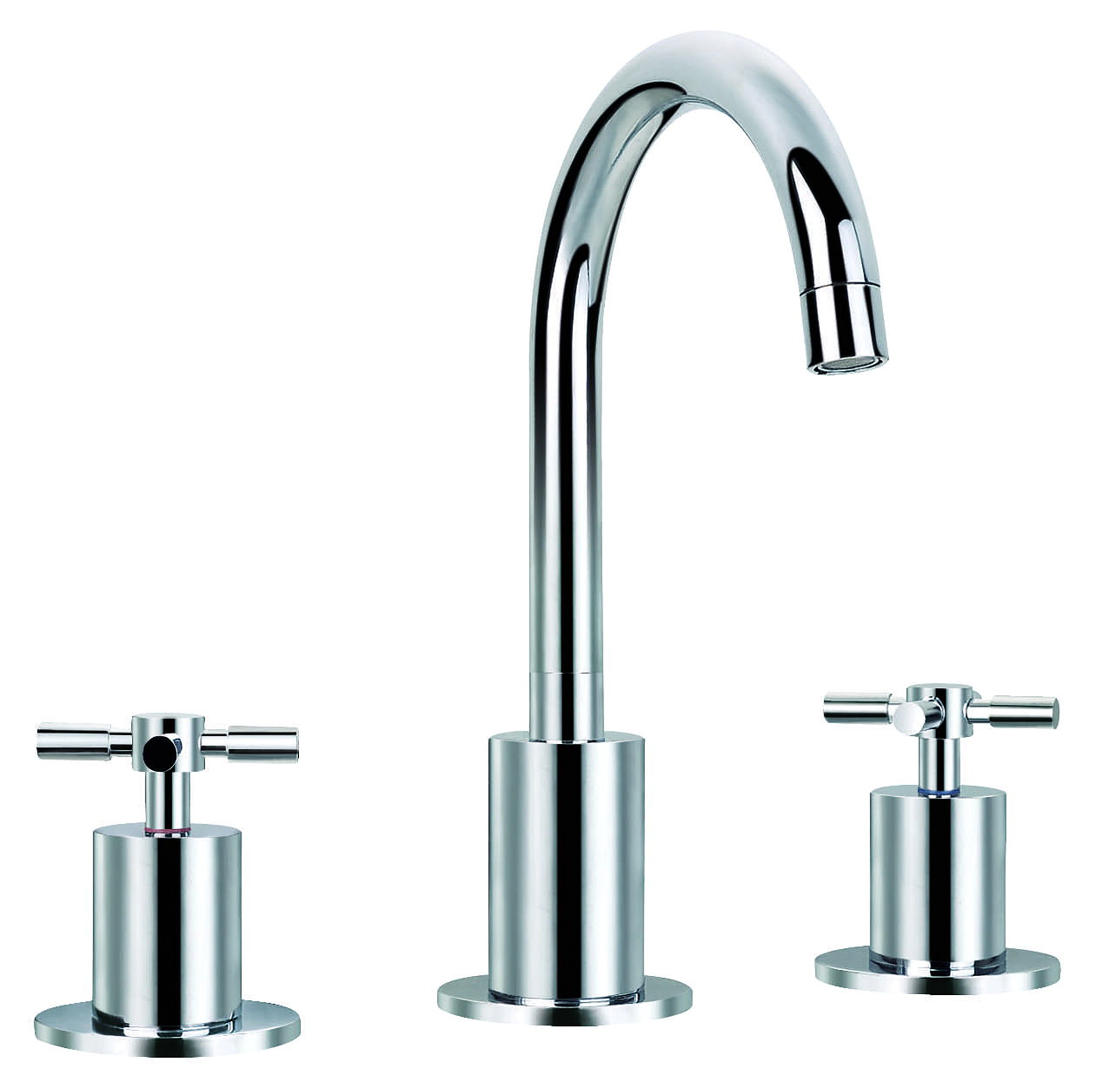 Ancona Prima Chrome 3 Bathroom Sink Faucet with 3-hole Installation by Ancona