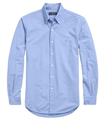 Sport Ralph Mens Oxford Polo M Stretch ShirtCityblue Lauren Slim Fit CxodeBWr