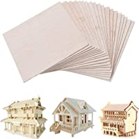 20 x Balsa Wood Sheets Wooden Plate Model Craft for DIY House Ship Aircraft 100mm x 100mm x 1mm