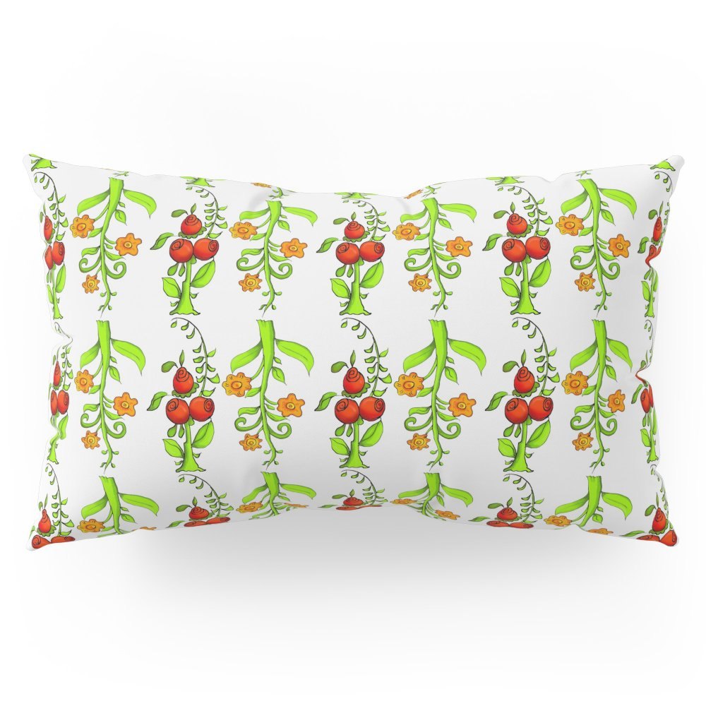 Society6 Bright Trees And Fruits Pillow Sham King (20'' x 36'') Set of 2