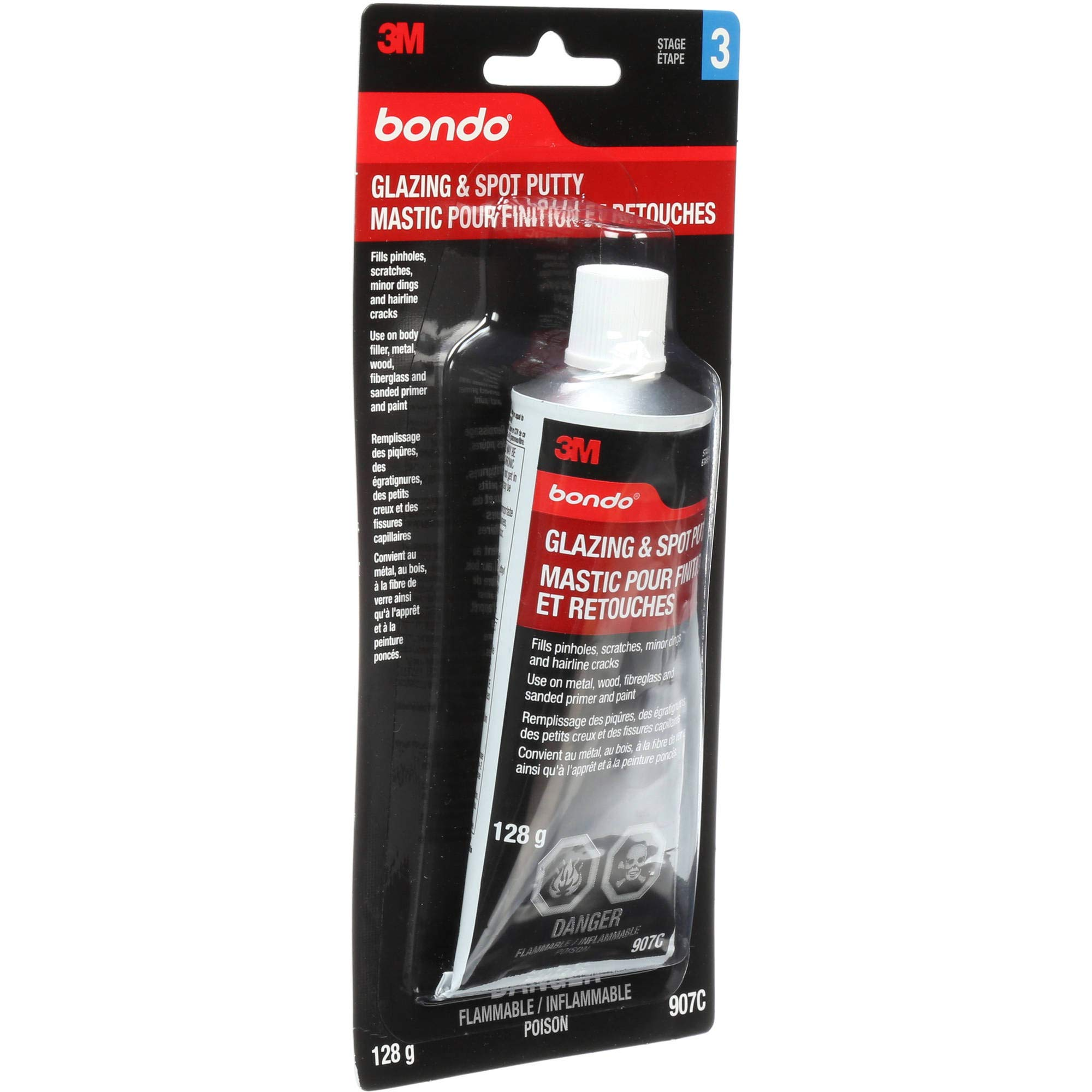 Bondo 046-045 1Lb 651 Glazing & Spot Putty Tube (Red) - 12ct. Case by Bondo (Image #1)