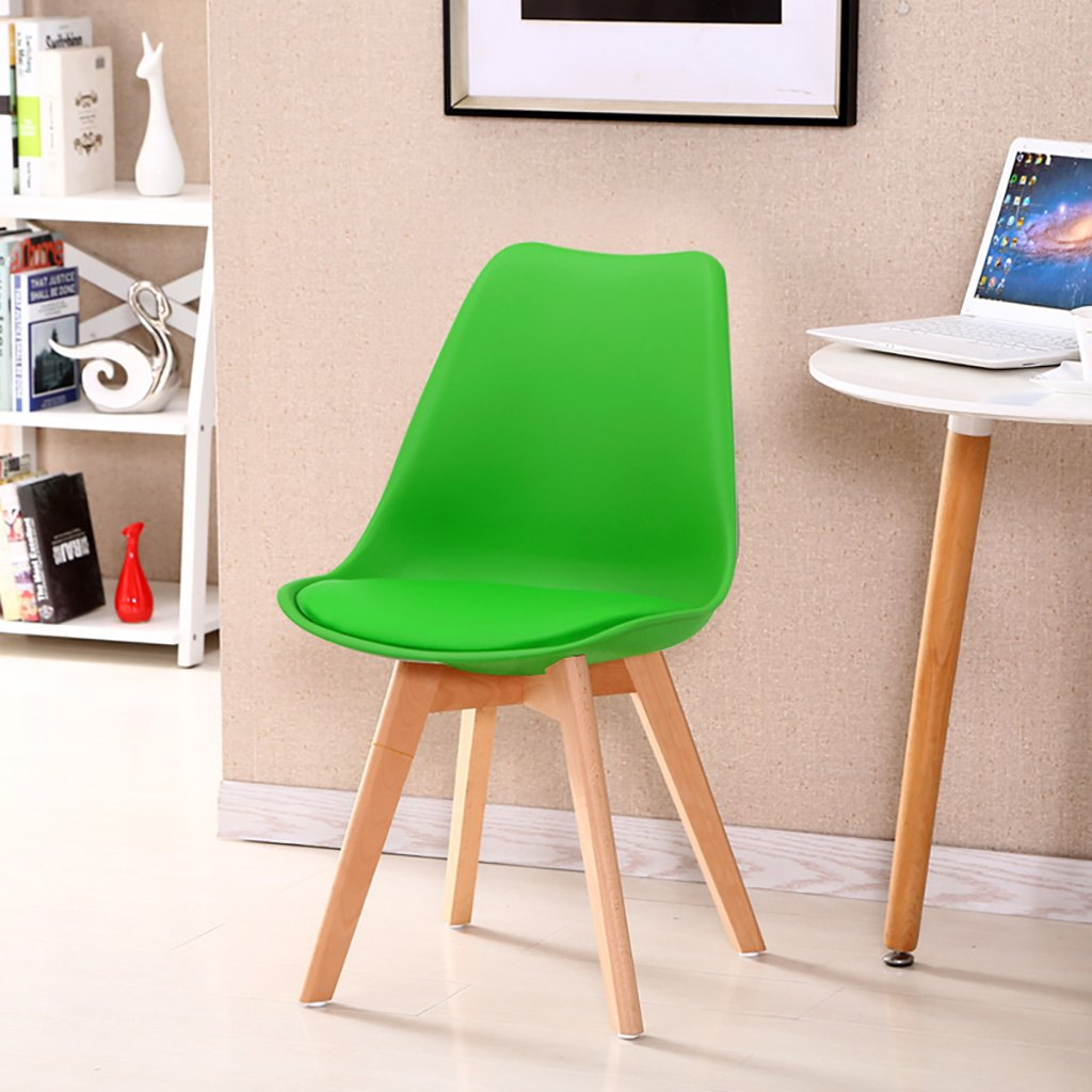 Simple Retro Conference Chairs Negotiating Chairs Solid Wood Chairs Feet Restaurant Chairs Creative Commercial Plastic Chair Backrest Lounge Chairs Computer Chairs Size: 3787cm (Color : D)