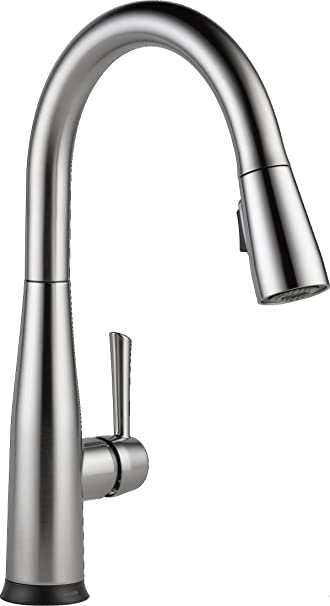 Delta Faucet Essa Single Handle Touch Kitchen Sink Faucet With Pull Down Sprayer Touch2o Technology And Magnetic Docking Spray Head Arctic Stainless 9113t Ar Dst Amazon Com
