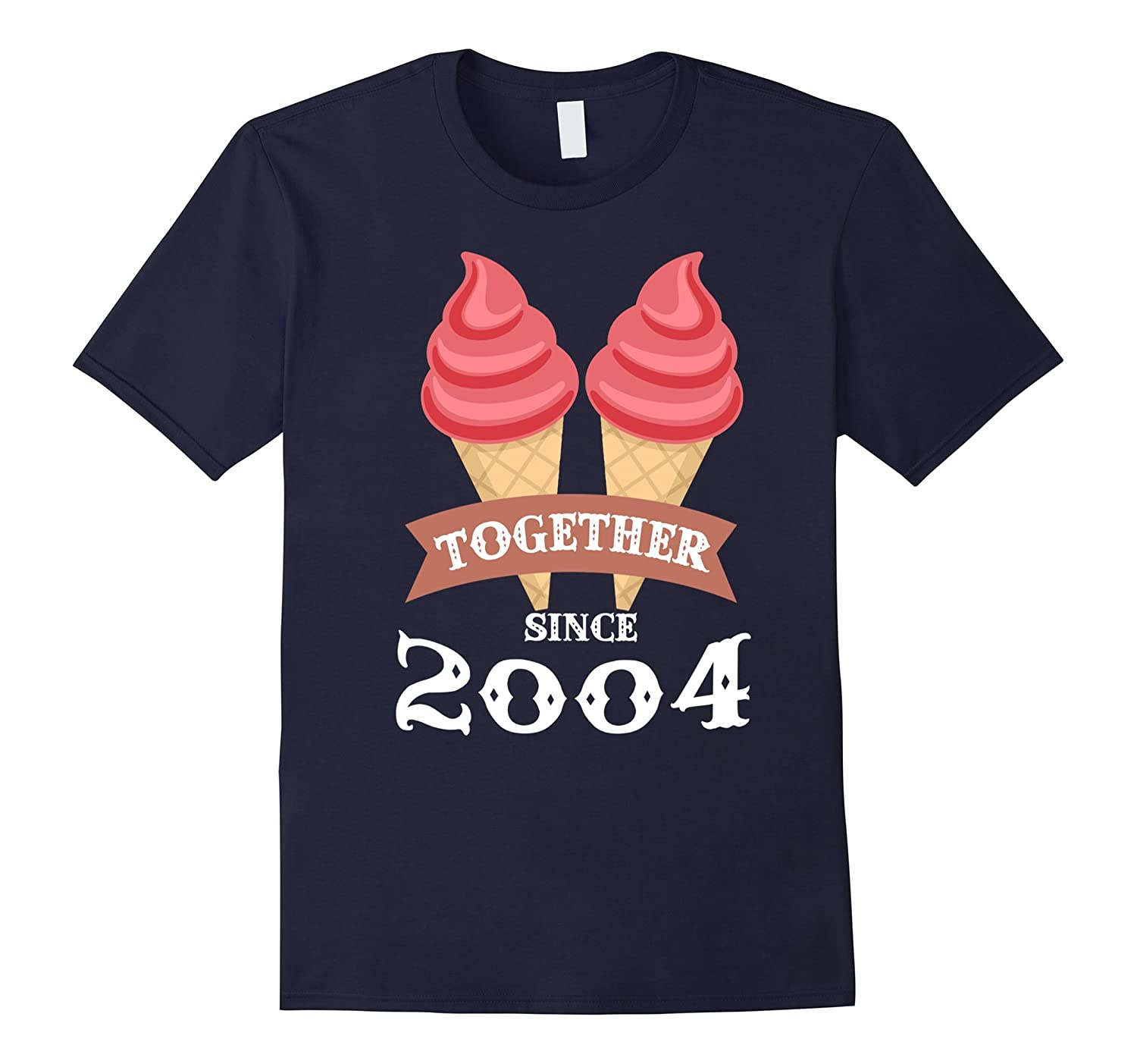 Ice Cream Together Since 2004 Shirt- Summer Style 2016-BN
