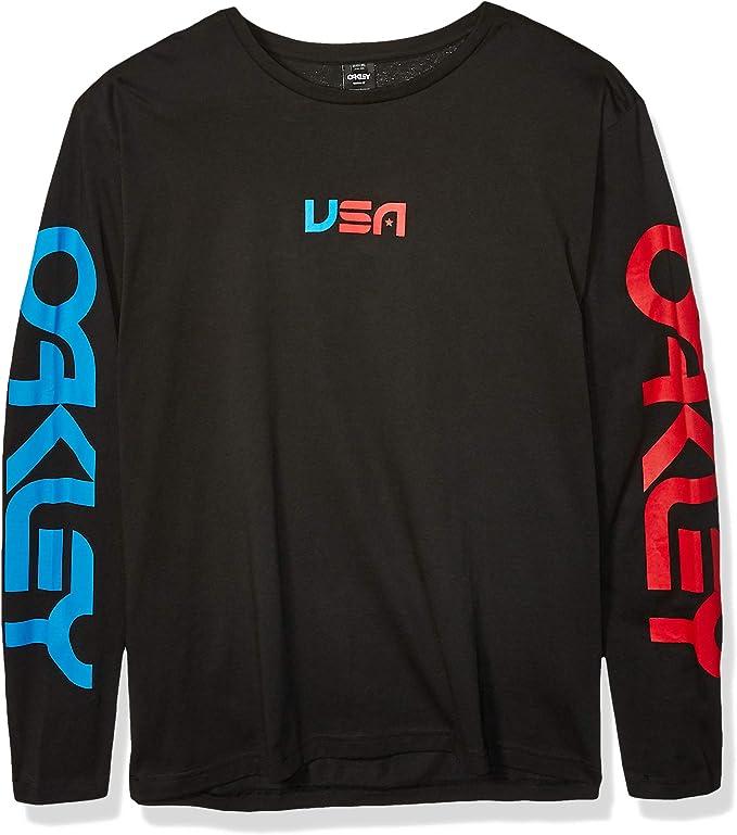 Oakley USA Star Ls Tee para hombre - Negro - 3X-Large: Amazon.es: Ropa y accesorios