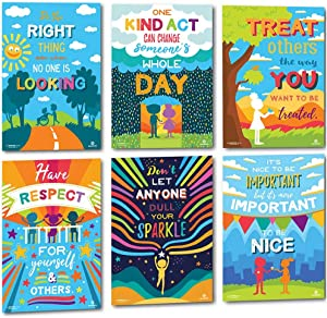 Sproutbrite Classroom Kindness Posters for Decorations - Inspiration Growth Mindset and Empathy for Teacher and Students