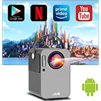 Deals on ARTlii Android TV 9.0 Portable Projector