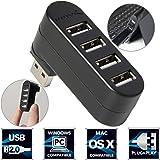 Sabrent 4-Port Hub USB 2.0 Moyeu Rotatif [90°/180° Degré Rotatif] (HB-UMN4)