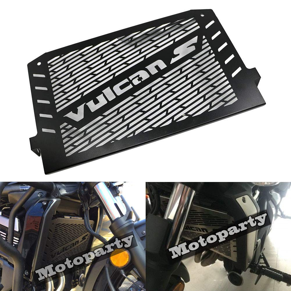 Radiator Guard Grill Cover,Motorparty Water Tank Grille Grill Guard Protector For Kawasaki VULCAN S 2015 2016 VULCAN 650,Stainless Steel,Black