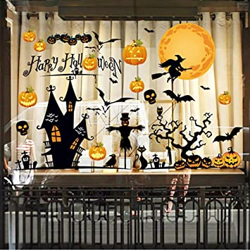 Topgalaxy.Z Halloween DIY Wall Decals Wall Stickers, Halloween Party  Decorations for Kids Rooms Nursery Rooms Window Shop, Halloween Decoration