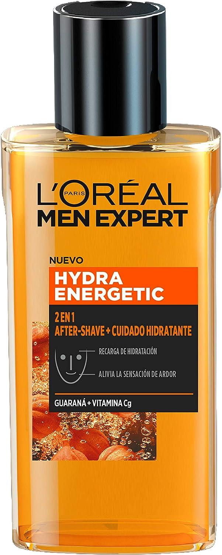 L'Oréal Men Expert Hydra Energetic - 2 en 1 Aftershave, Cuidado Hidratante para Hombres, 125 ml