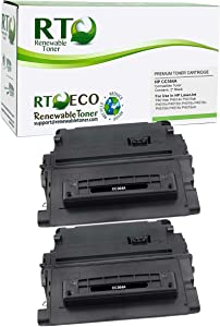 Renewable Toner Compatible Toner Cartridge Replacement for HP 64A CC364A Laserjet P4014 P4015 P4515 P4515 (Black, 2-Pack)