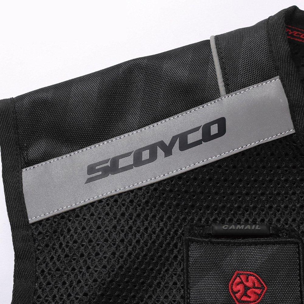 Scoyco JK46 Men's Motorcycle Auto Racing Vest (XL, Black) by SCOYCO (Image #4)