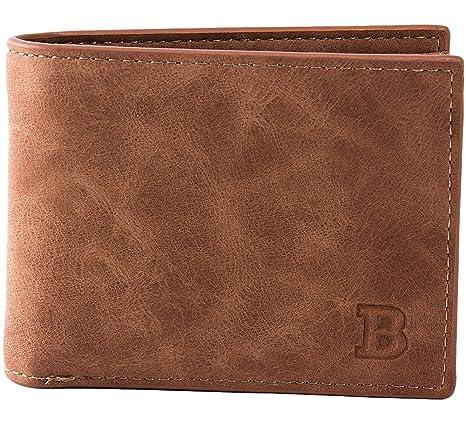 08a056ec99e1a Bevalsa Vintage Portemonnaie aus Leder für Herren Geldbörse Brieftasche  Ledergeldbörse Geldbeutel Etui kreditkarten Fächer Portmonee im