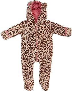 Unisex Infant Baby Snowsuit Pramsuit Romper 3-6 Leopard