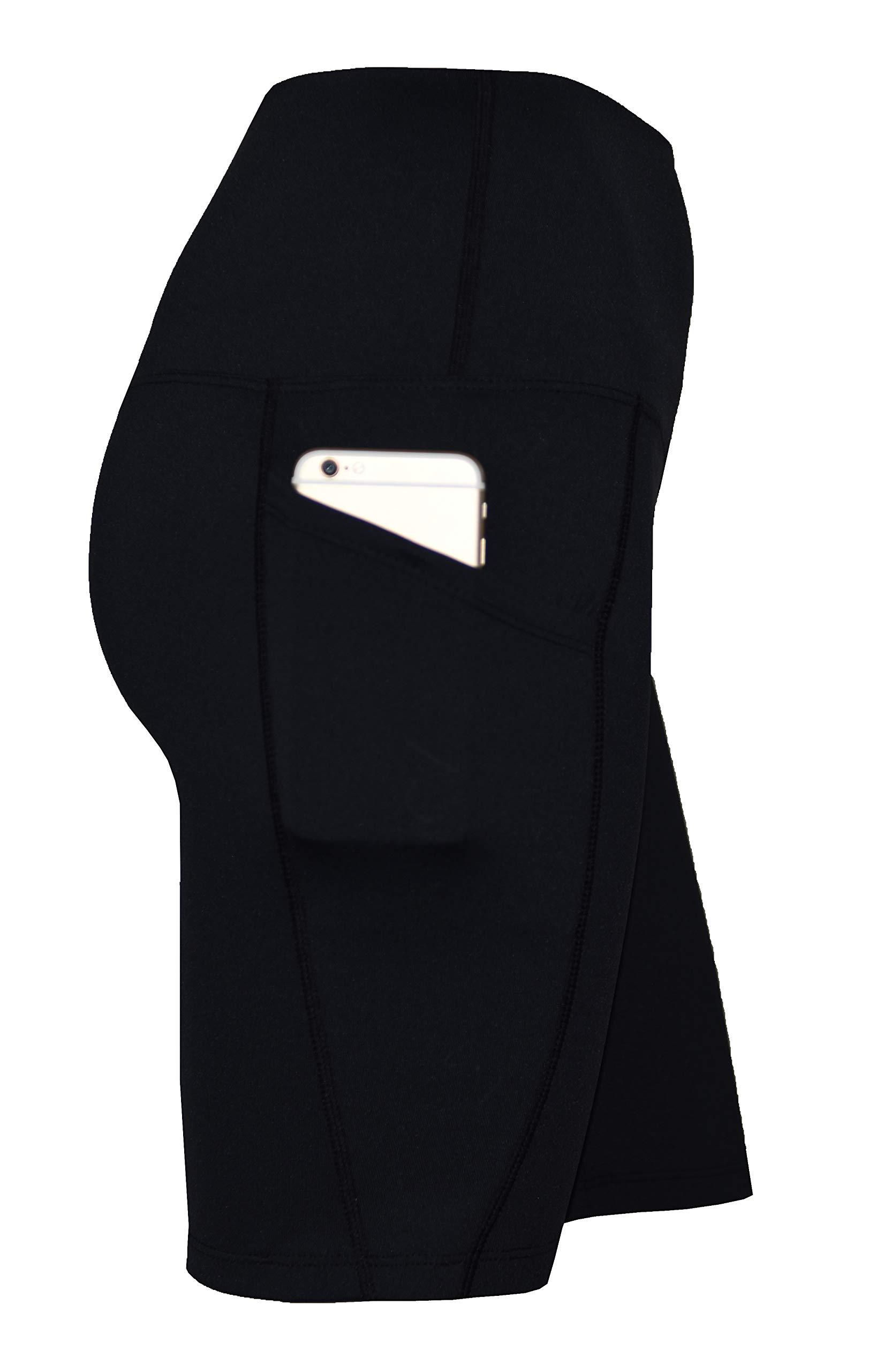 Private Island Women UV Swim Rash Guard Board Shorts Pants Yoga (XXL, Black) by Private Island