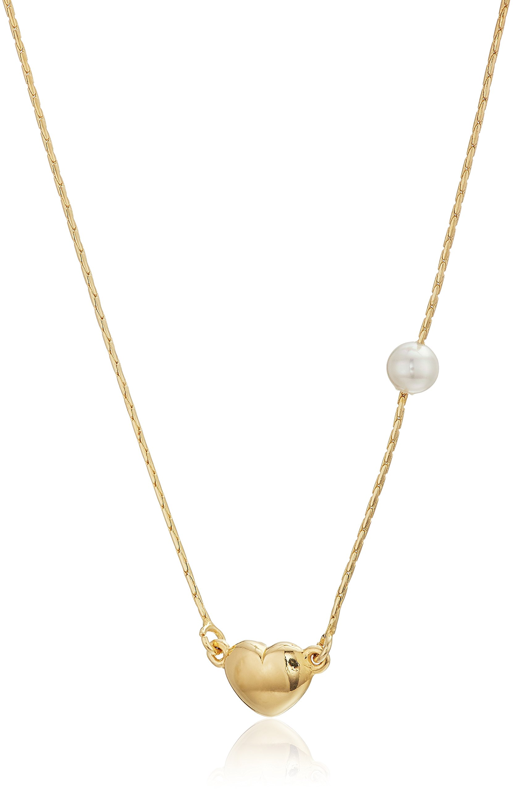 Majorica Angel Collection Women's White 4mm Round Gold Plated, One Size