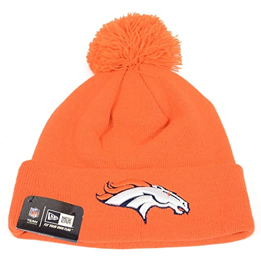 238dd874 New Era Headwear NFL Football Denver Broncos Beanie Pomz Hat Cap Men Size