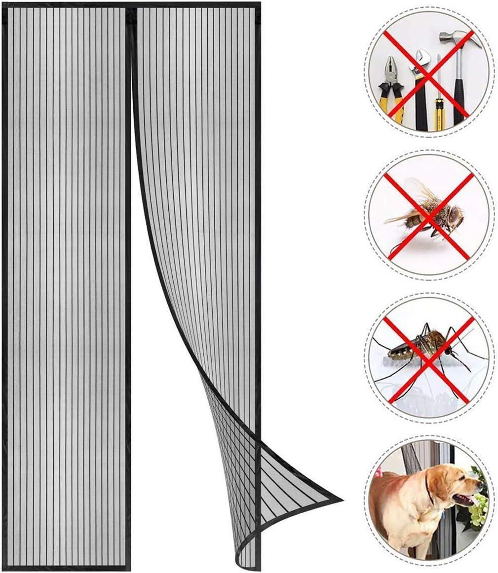 Schwarz Klebmontage ohne Bohren Magnet Vorhang Fliegenvorhang Moskitonetz f/ür Balkont/ür Wohnzimmer Terrassent/ür Coedou Fliegengitter T/ür Insektenschutz 110x220 cm