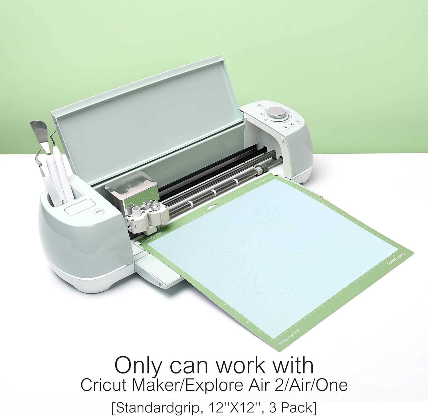 Stronggrip, 3 Pieces Cricket Mat Perfect Stickiness for Thick Material Craft World 12x12 Cutting Mat for Cricut Maker//Explore Air 2//Air//One
