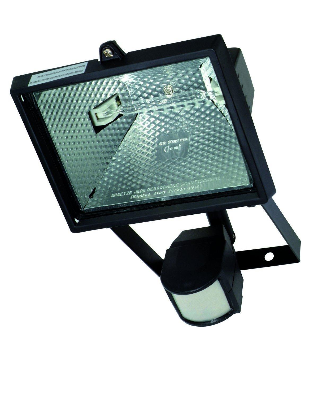 Profile 42000157 Carre Proyector halógeno con detector de movimiento (Metal Negro: Amazon.es: Iluminación