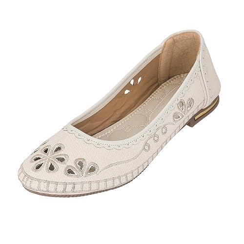 0f3d7cba9be Juti Kasoori Casual Wear Flat Belly Latest Arrival Party Wear Casual Wear  Belly Shoes for Women   Girls (39