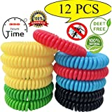 12 Pack Mosquito Repellent Bracelet,100% Natural Non-Toxic Bug Repellent Bracelet 350Hrs of Protection - Insect Bug Repellent for kids,Women,Men
