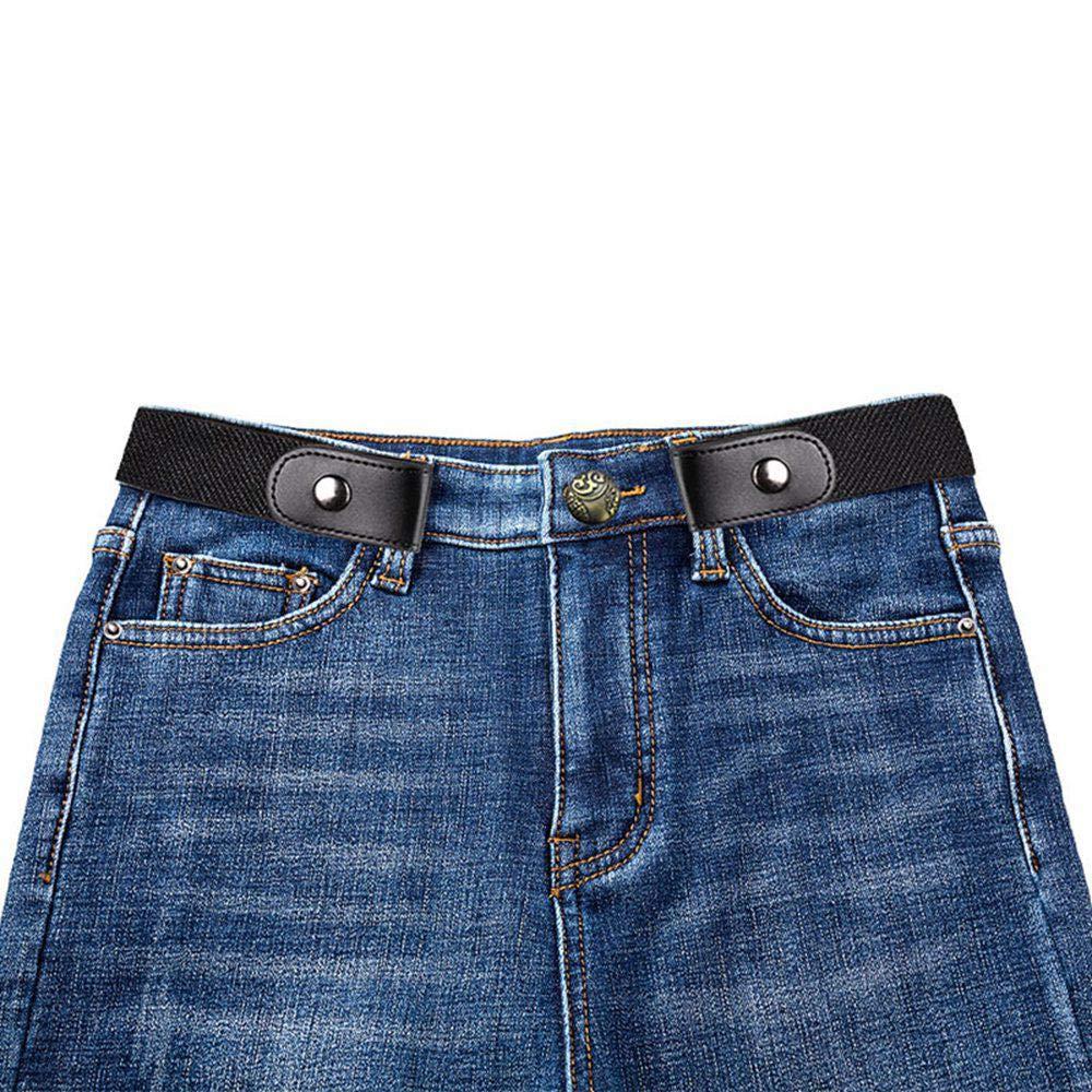 UMIWE Cinturón sin hebilla Cinturon elástico para mujer hombre Niños para pantalones vaqueros vestidos