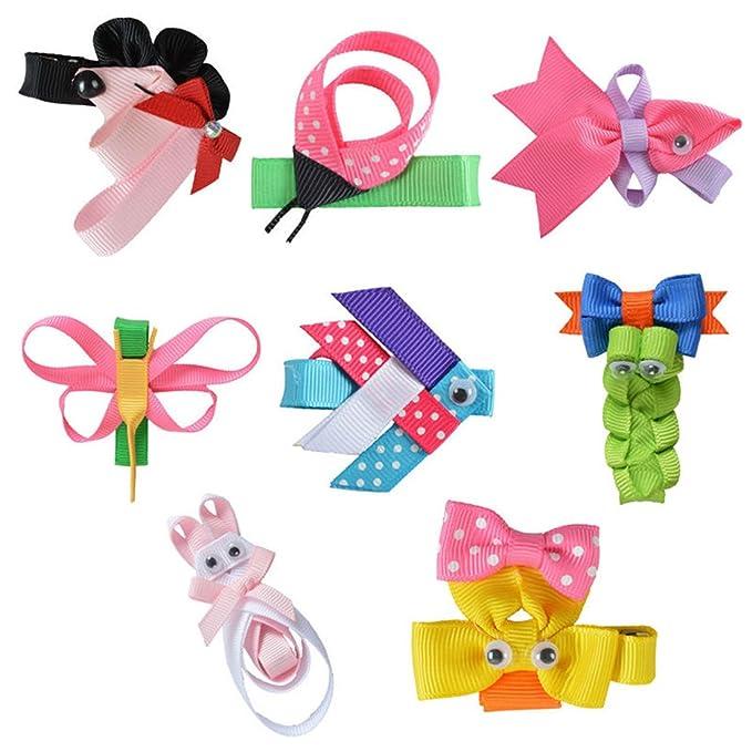 Amazon Com Qhome 8pcs 2 2 5 Hair Bow For Girls Diy Cute Animals