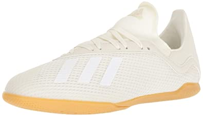 more photos 56f5b 67f70 adidas Unisex X Tango 18.3 Indoor Soccer Shoe, Off WhiteBlackGold Metallic