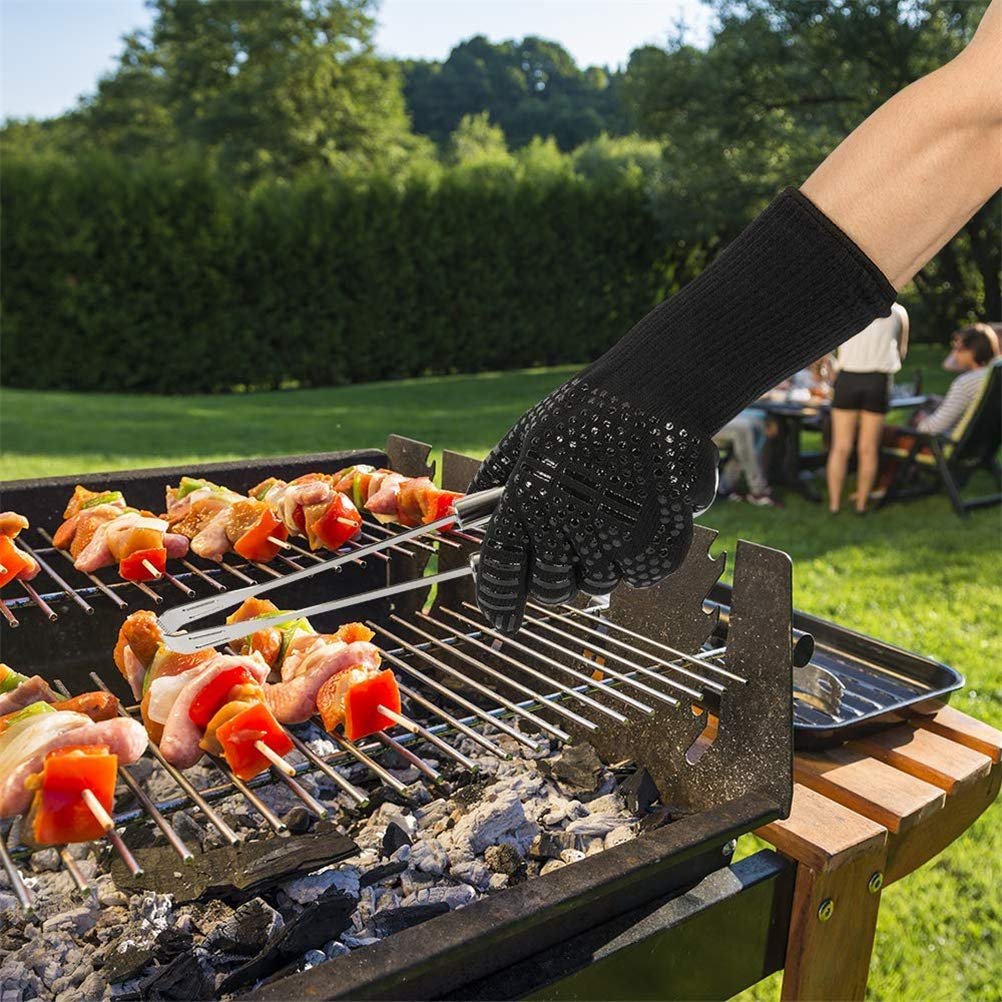 YSDRoyal BBQ Grill Gloves 1472℉ Heat Resistant Silicone Oven Gloves Heat-Insulated Cooking Mitt for Barbecue, Baking,Smoker 1 pair