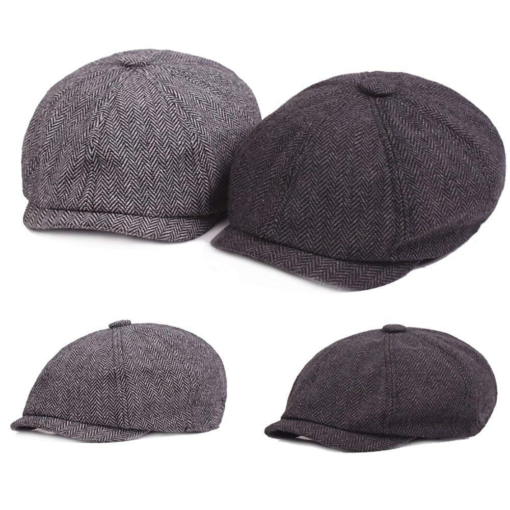 Berretto da Uomo Casual Vintage Piatto Berretto Elegante Classic Giornale  Cappello Bonnet Primavera Autunno Outdoor Golf da Viaggio (Color   Hellgrau 7684d05aea12