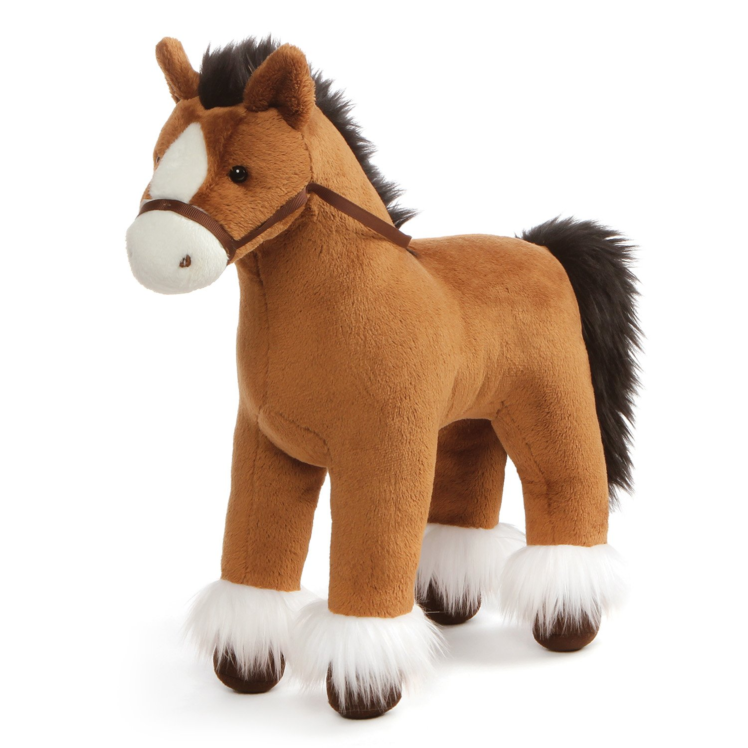 GUND Dakota Clydesdale Horse Standing Stuffed Animal Plush, Brown, 15'' by GUND
