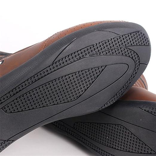Street Touring Botas de Moto Cuero Transpirable Diseño Vintage Botines Biker Zapatos Negro/Marrón: Amazon.es: Coche y moto