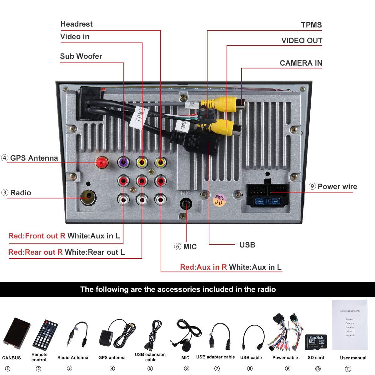 Hotaudio Car Stereo Satellite GPS Navigator para Opel, Unidad Head 7 Pulgadas 2 DIN Car Stereo con Soporte para Reproductor de CD y DVD GPS, USB SD, ...