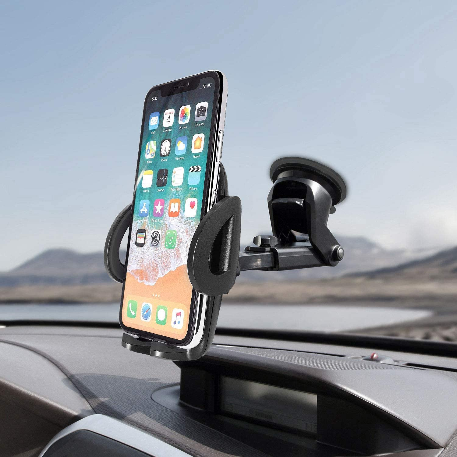Cellet Windshield//Dash Phone Mount with Large Suction Cup Perfect for iPhone 11 Pro Max 11 Pro Xs Xs Max Xr X Samsung Note 10 10 S20 Ultra S10 S10e S10 S9 Google Pixel 4 4XL 3 3XL 9 Galaxy S20 S20