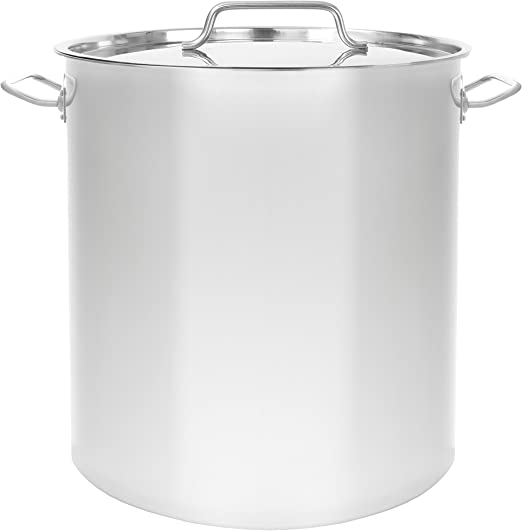 Home Brew Cookware Beer CONCORD 100 QT Full Stainless Steel Stock Pot w Steamer