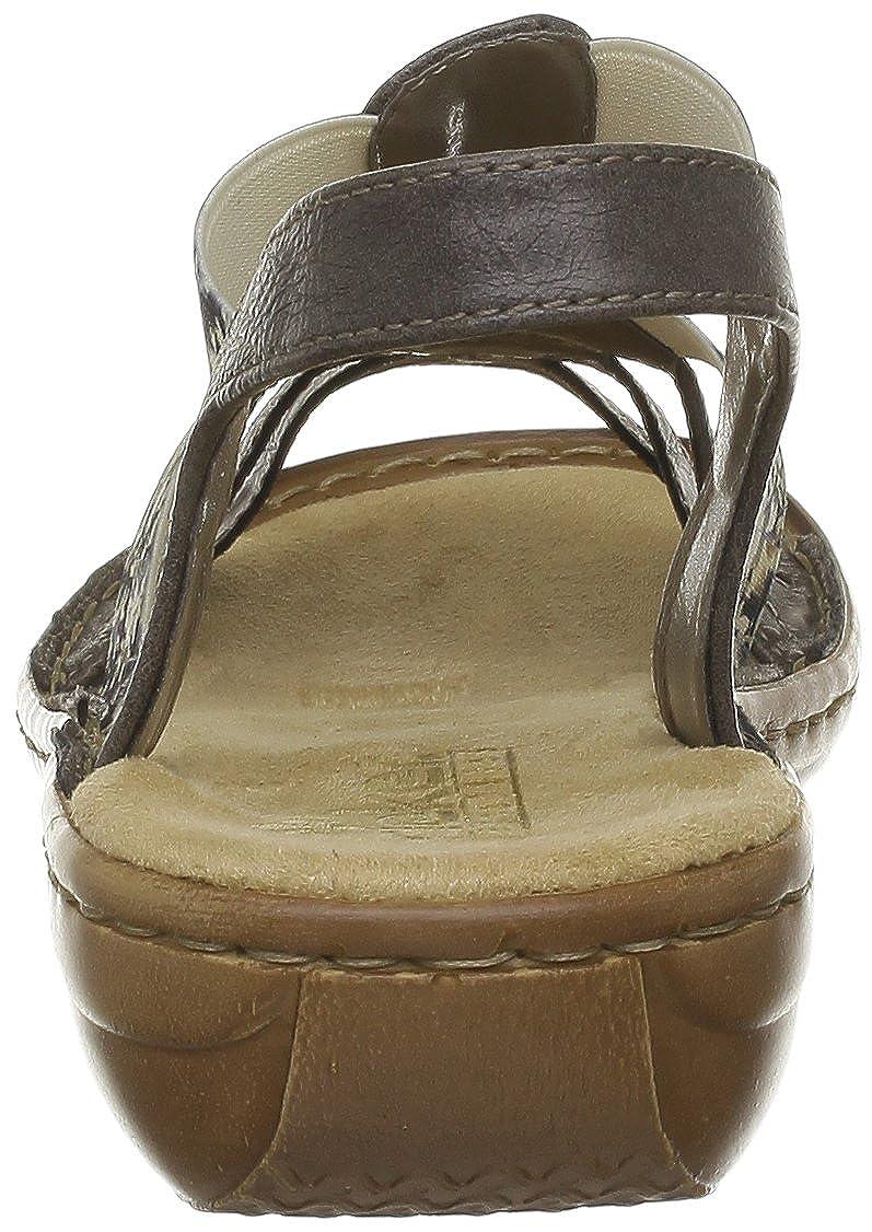 9ea2bae98a9a Rieker Womens 60840-45 Sandals Gray Grau (smoke 45) Size  42  Amazon.co.uk   Shoes   Bags