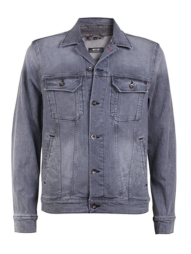 Mustang Herren Jeansjacke New York - Grau - Tinted Rinse Wash,  Größe M Farbe Tinted Rinse Wash (485)  Amazon.de  Bekleidung 0374a2e2ea