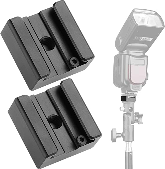 Oumij Cold Shoe Mounts 1//4 Thread Aluminium Alloy Cold Shoe Coldshoe Adapter Mount for Flash Microphone Extension Accessory Kit
