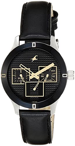 6. Fastrack Round Shape Black Dial Watch