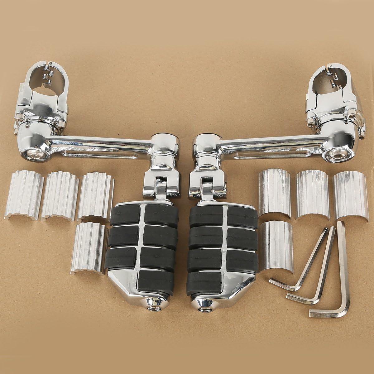 Tengchang Motorrad 22mm 30mm 35mm Einstellbar Vorderseite Fußstützen Autobahn Fußrasten Für Honda Goldwing Gl1800 Auto