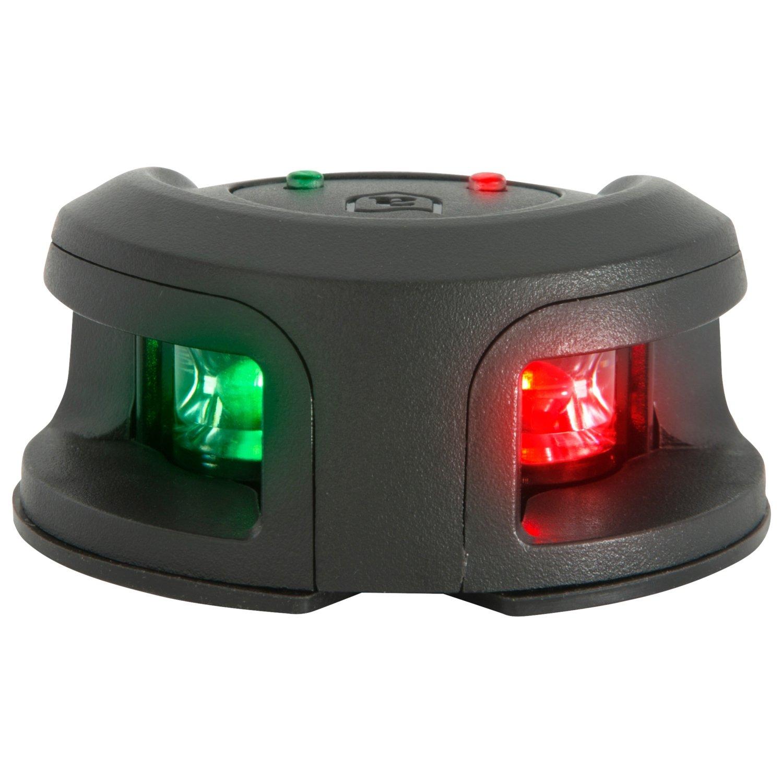 attwood LightArmor Bow Mount Navigation Light - Composite Black - Bi-Color - 2NM