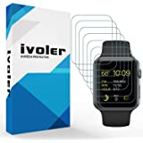 Apple Watch 42mm Series 1 / Series 2 / Series 3 Pellicola Protettiva, iVoler [8 Pack] 3D Copertura Completa [liquido Installazione] [Anti-Graffio] [HD Trasparente] Screen Protector TPU Pellicole Morbide per Apple Watch 42mm Series 1 2015 / Series 2 2016 / Series 3 2017 - Garanzia a vita