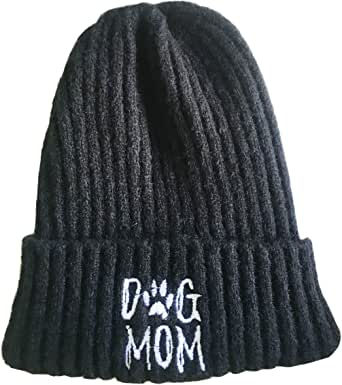 Stretchy Cuff Beanie Hat Black Skull Caps Live Love Softball Baseball Winter Warm Knit Hats