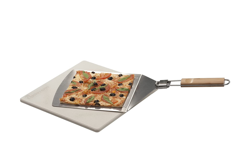 Pizzastein Für Gasgrill Landmann : Landmann pizza set um silber cm amazon