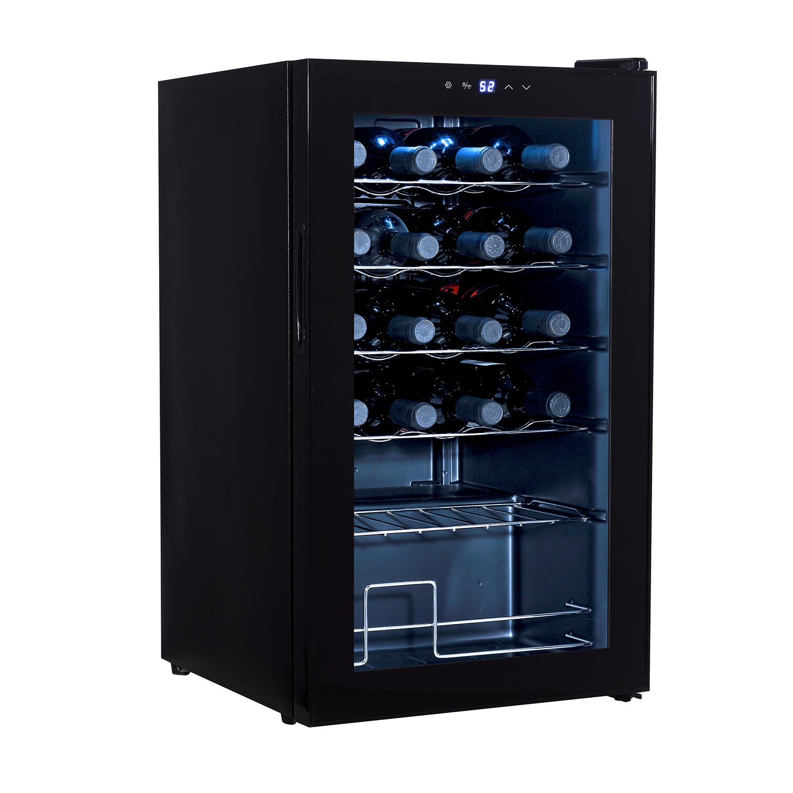 Mecor 24-Bottle Compressor Wine Cooler Freestanding Wine Chiller Refrigerator Cabinet,Black