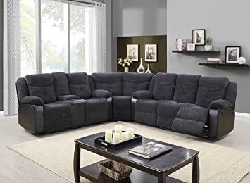 Global Furniture U1566 JASMINE MOUSE Sec Sectional, Jasmine Mouse