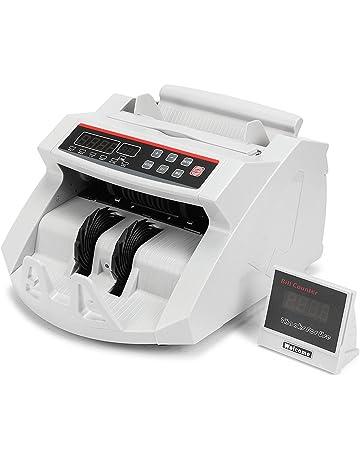 TravelerK Billete Dinero Contador Monedas Detector de Billetes Falsos Contador de Billetes Electronic Dinero Counter con
