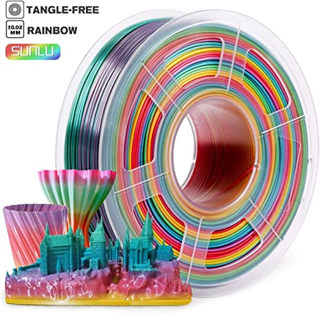 3d Printer Filament 1.75mm,PLA Filament 1KG Spool,Rainbow ...